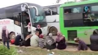 لحضة تفجير الفوعه و كفريا 2017/4/15 الصفحة الرسمية لأبناء عشائر ...