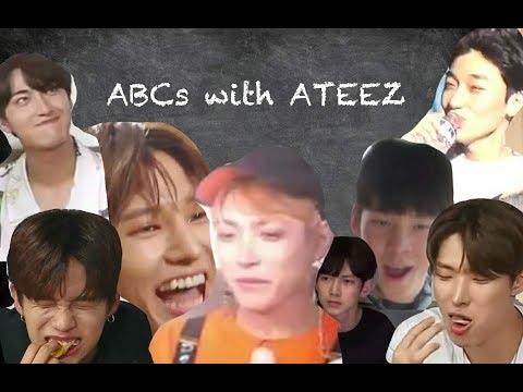 learn the alphabet with ateez