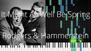 🎹 [Piano Solo]It Might As Well Be Spring, Rodgers & Hammerstein-Synthesia Piano Tutorial