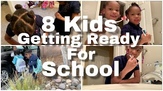 8 KIDS GETTING READY FOR SCHOOL!  CAR CHAT