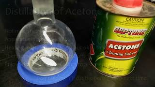 Distillation of acetone
