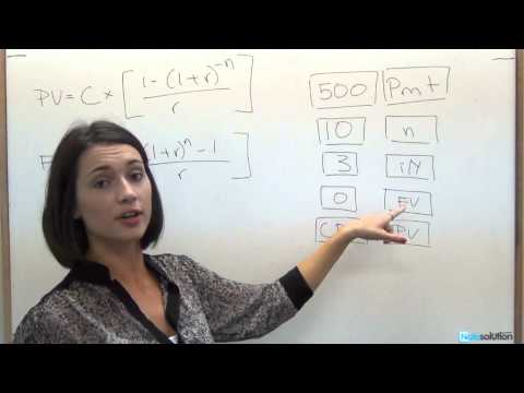 Finance: How to calculate Annuity, Present Value, Future Value