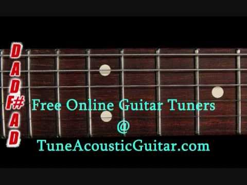 open d tuning open d major online guitar tuner youtube. Black Bedroom Furniture Sets. Home Design Ideas