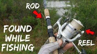 Fishing TREASURE!!! Found Rod, Reel, Multi-Tool in Pond (Crazy Find!)