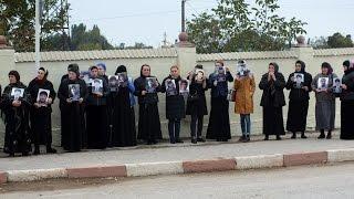 Родственники пропавших дагестанцев вышли на акцию протеста в Хасавюрте