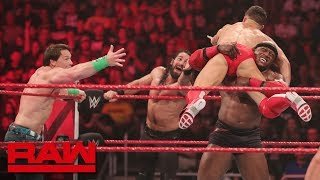 Cena, Rollins & Bálor vs. Ambrose, McIntyre & Lashley: Raw, Jan. 7, 2019