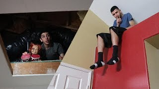 CRAZY HIDE AND SEEK IN OUR HAUNTED HOUSE!! | FaZe Rug