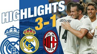 Real Madrid vs AC Milan 3-1 EXTENDED HIGHLIGHTS  GOALS ...