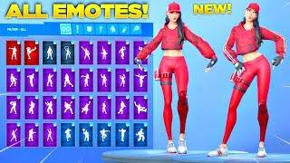 *NEW* RUBY SKIN Showcase with All Fortnite Dances & Emotes! (Fortnite Season 10 Skin)