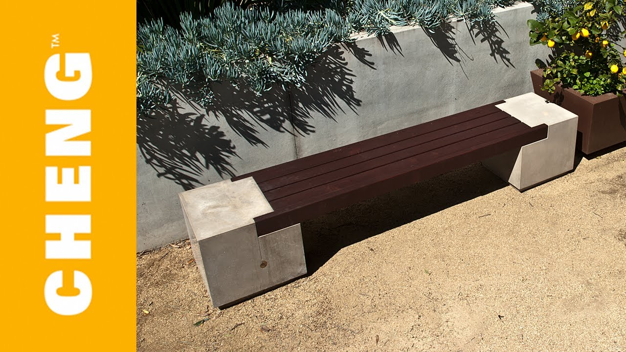 Make A Concrete And Wood Bench With Cheng Outdoor Concrete