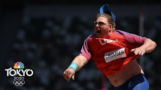 Ryan Crouser breaks Olympic record THREE TIMES to win epic shot put gold in Tokyo | NBC Sports