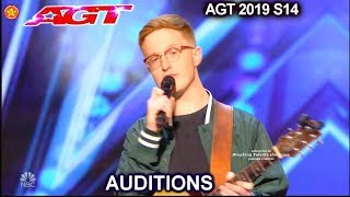 Lamont Landers  Simon Says No to his First Song | America's Got Talent 2019 Audition