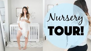 Shared Room NURSERY TOUR! Grey and White Theme