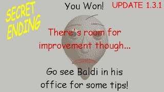 Secret Ending (Wrong answers only! ) - Baldi's Basics in Education and Learning v1.3.1
