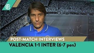 VALENCIA 1-1 INTER (6-7 pen)   CONTE + POLITANO + LAUTARO + BASTONI INTERVIEWS [SUB ENG]