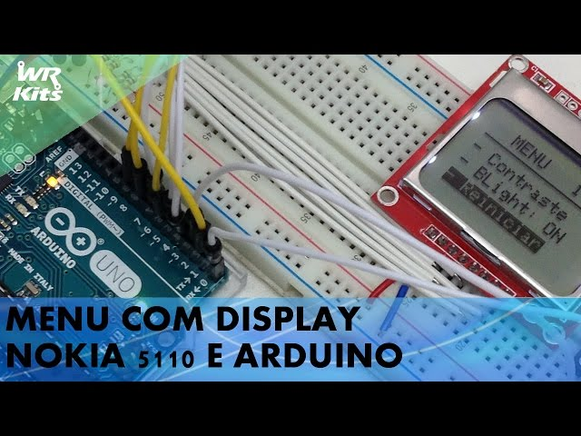 MENU COM DISPLAY NOKIA 5110 E ARDUINO