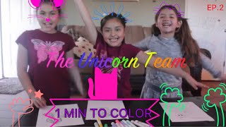 1 MINTUE COLORING CHALLENGE-WHO IS THE WINNER!! (Unicorn Team)
