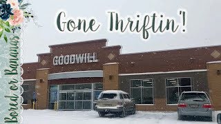 Thrift with Me at Goowill {Feb 2019} BORED OR BANANAS
