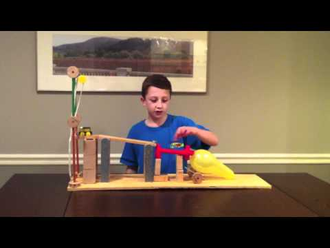 LEGO Simple Machine Pulley likewise How To Pop A Balloon Using Simple Machines besides Simple Machine Science Projects also Wedge Simple Machine Ex les moreover Double Pulley System. on wheel and axle bill nye