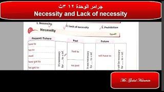 شرح جرامر الضرورة وعدم الضرورة والتحريم الوحدة 12 3ث Modal Verbs