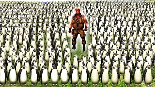 100,000 PENGUINS vs CHUCK NORRIS! - Ultimate Epic Battle Simulator - UEBS