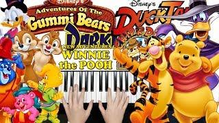Disney Classic Cartoon TV Shows MEDLEY || PIANO COVER