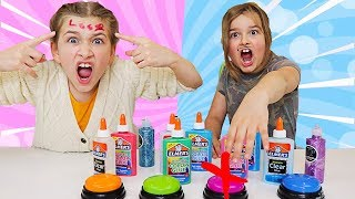 Don't Push the Wrong Button Slime Challenge! TRUTH or DARE! | JKrew