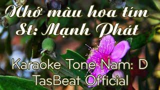 Karaoke Nhớ Màu Hoa Tím - Tone Nam   TAS BEAT