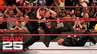 """Stone Cold"" Steve Austin Stuns Shane and Mr. McMahon: Raw 25, Jan. 22, 2018"