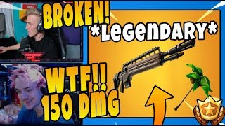 NINJA, TFUE & More Streamers React To *NEW* LEGENDARY INFANTRY RIFLE & RELAX PICKAXE - FortniteChamp