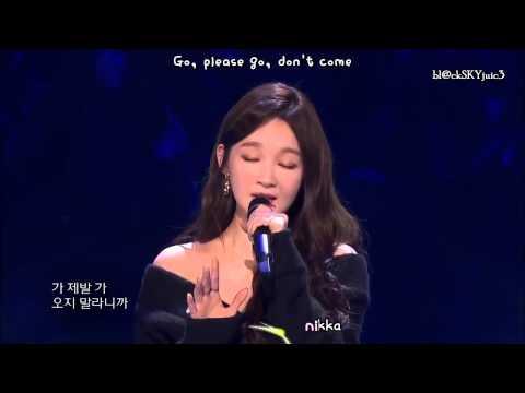 Davichi - Cry Again LIVE [hangul / roman / eng sub]