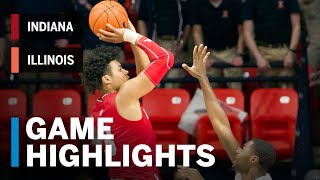 Highlights: Hoosiers Remain Hot in Win   Indiana vs. Illinois   B1G Basketball