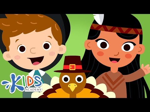 Thanksgiving Story for Kids - The First Thanksgiving Cartoon for Children   Kids Academy