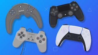Evolution of PlayStation Controllers (Animation)