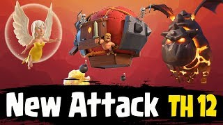 New Attack TH12 LavaLoon Battle Blimp With Queen Walk | NEW War 3 Star Attack Guide Clash Of Clans