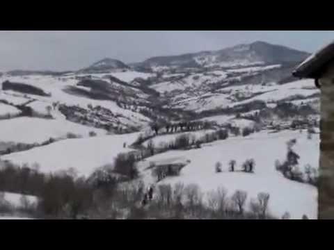 Monte Cerignone sotto la neve 2013