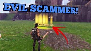 Evil Scammer Loses His Best Guns! (Scammer Gets Scammed) Fortnite Save The World