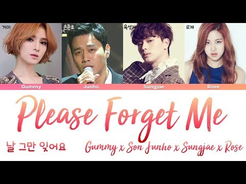 ROSE (BLACKPINK), Son Junho, Sungjae, Gummy - Please Forget Me (날 그만 잊어요) [han|rom|eng lyrics/가사]