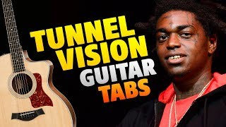 Kodak Black - Tunnel Vision (Fingerstyle Guitar Cover With Easy Tabs And Chords)