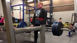 200kg/440 lbs Deadlift 8 reps! 18 years old.