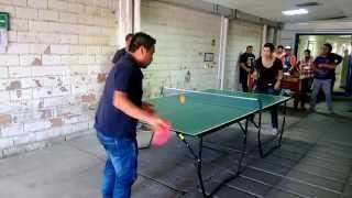 Semifinal pingpong torneo Transcom