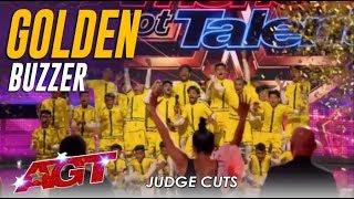 V. Unbeatable: Dwyane Wade Hits GOLDEN BUZZER For Indian Dance Group   America's Got Talent 2019