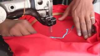 Embroidering a TShirt