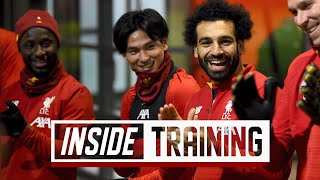 Inside Training: Extended behind-the-scenes access from Minamino's first day