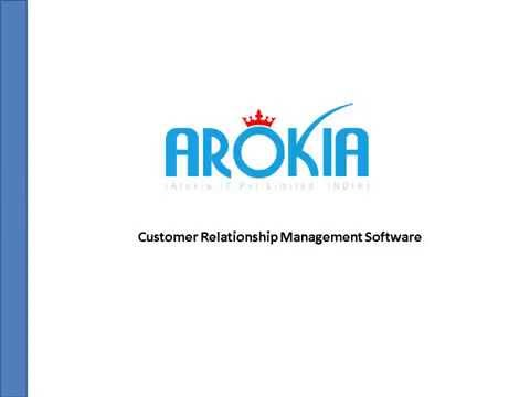 Arokia IT Pvt Limited   CRM Software