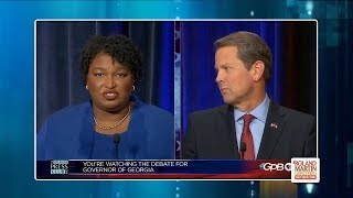 Stacey Abrams And Brian Kemp Clash In First Debate