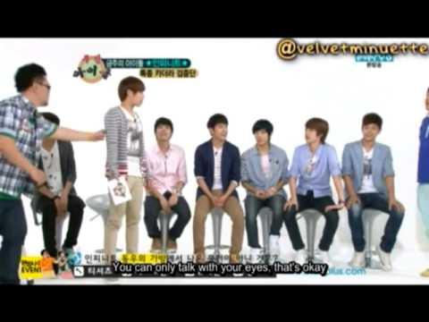 [Eng Sub] 120613 Weekly Idol - Sunggyu Eye Talk Cut