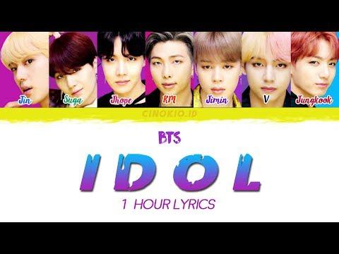 ( 1 HOUR LOOP / 1 HORA / 1 시간 )  BTS (방탄소년단) – 'IDOL'  COLOR CODED LYRICS (Han/Rom/Eng)