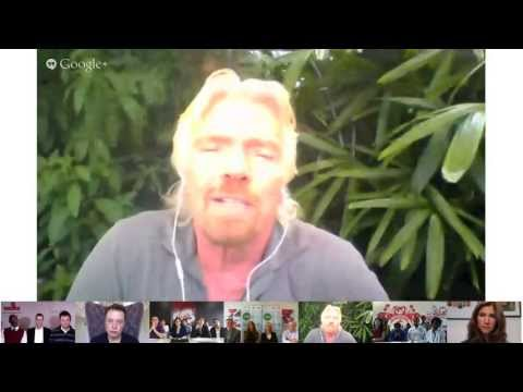 Elon Musk and Sir Richard Branson Hangout on Air - YouTube