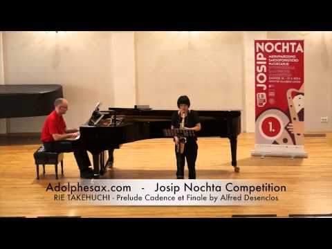 Josip Nochta Competition RIE TAKEHUCHI Prelude Cadence et Finale by Alfred Desenclos